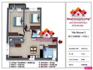 Apartament de vanzare in Sibiu cu 3 camere - Selimbar