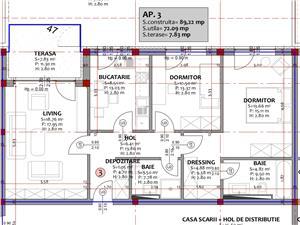 Apartament de vanzare in Sibiu 3 camere - Decomandat Cu Gradina