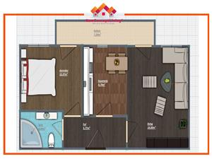 Apartament de vanzare in Sibiu - 2 camere Decomandat cu Balcon Spatios