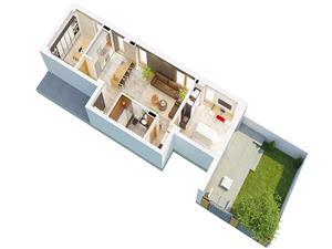 Apartament de vanzare in Sibiu - 3 Camere cu Terasa si Gradina