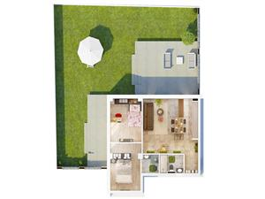 Apartament de vanzare in Sibiu 3 camere cu gradina de 104 mp si terase