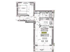 Apartament de vanzare in Sibiu - 2 camere - logie de 6.97 mp