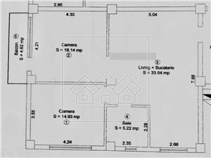 Apartament 3 camere de vanzare in Sibiu, cartier Alma - cu pivnita