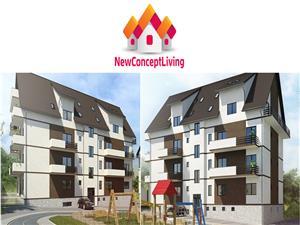 Apartament 2 camere cu living spatios, pivnita si terasa 25 mp