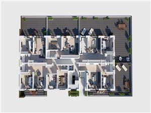 Apartament 2 camere - cu terasa de 44 mp si parcare subterana