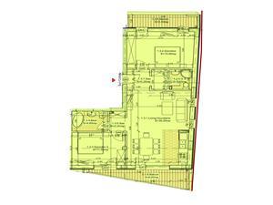 Apartament de vanzare in Sibiu - 3 camere si 2 balcoane - lift
