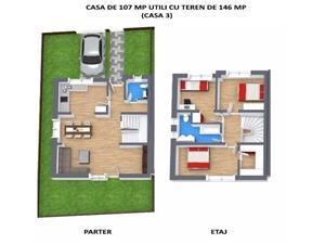 Casa de vanzare in Sibiu -3 dormitoare la etaj -2 bai