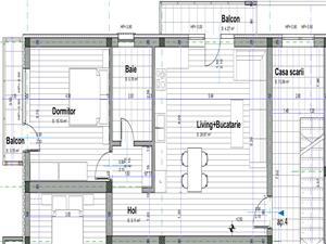Apartament de vanzare Sibiu -2 camere + 2 Balcoane si 1 Loc de parcare