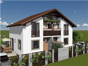 Casa de vanzare in Sibiu -Duplex- 550 mp teren in Bavaria
