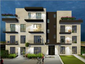 Apartament 3 camere de vanzare in Sibiu-2 balcoane si gradina de 95mp