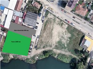 Industrial hall with 1400 sqm land for sale