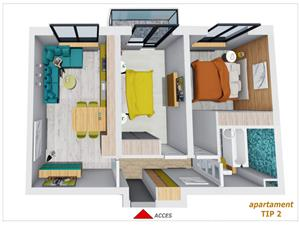 Apartament de vanzare in Sibiu - Decomandat - Incalzire in pardoseala